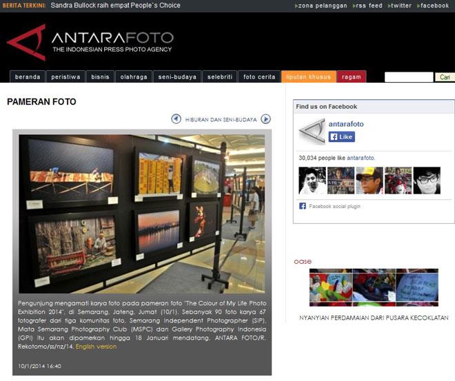 AntaraFoto.com, Jumat - 10 Januari 2014 : www.antarafoto.com/seni-budaya/v1389346821/pameran-foto