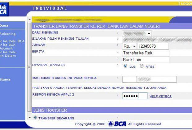 Istilah trasfer LLG dan RTGS