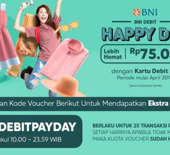 BNI Debit Happy Day Lebih Hemat 75ribu - Blibli