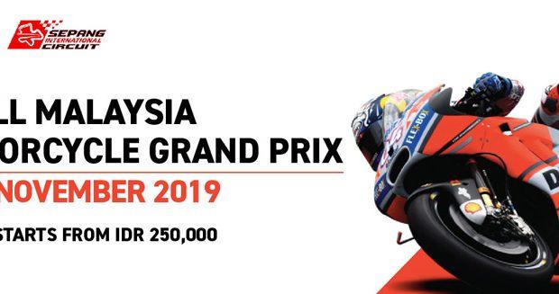 Pesan Tiket Shell Malaysia MotoGP 2019 Sekarang !