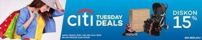 Diskon 15% Citi Tuesday Deals - Lazada