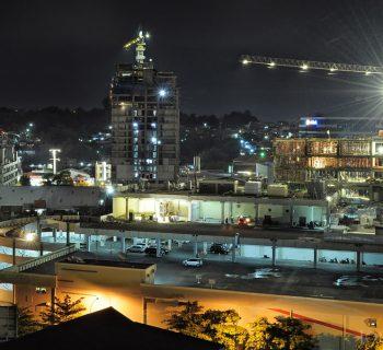 Night Photography Cityscape : The Pinnacle Apartment - DP Mall Semarang