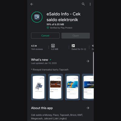 Cek Saldo E-Money di Smartphone Android