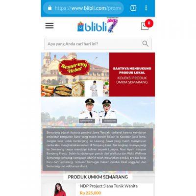 Galeri UMKM Semarang Kini Ada di Blibli
