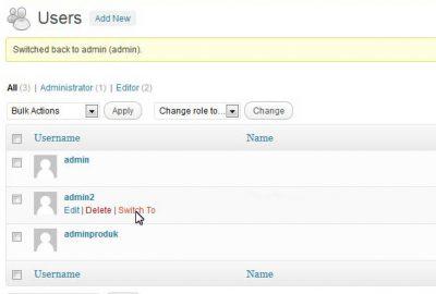 Cara Mudah Switching Account di WordPress