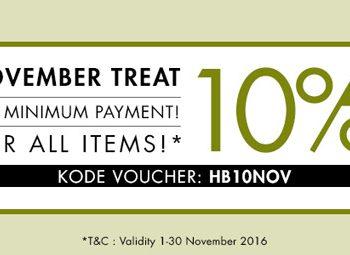 Hijabenka November Treats Diskon 10%