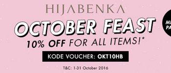 Diskon 10% Hijabenka October Fest