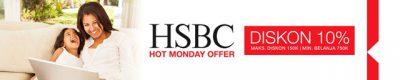 Diskon 10% Kartu Kredit HSBC di Lazada