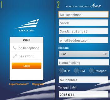 Proses Registrasi Aplikasi KAI Access