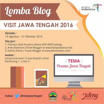 Lomba Blog Visit Jawa Tengah 2016 - Semarang