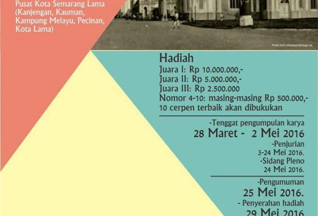 Lomba Cerpen Kisah-Kisah Kota Lama Semarang