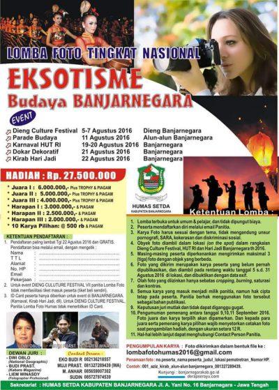 Lomba Foto Tingkat Nasional Eksotisme Budaya Banjarnegara