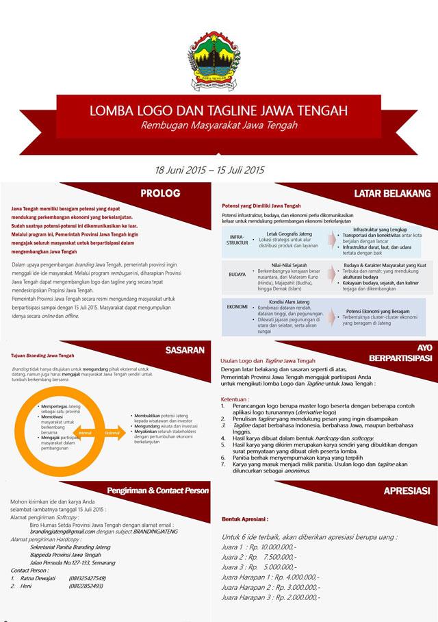 Lomba Logo dan Tagline Jawa Tengah - 15 Juli 2015