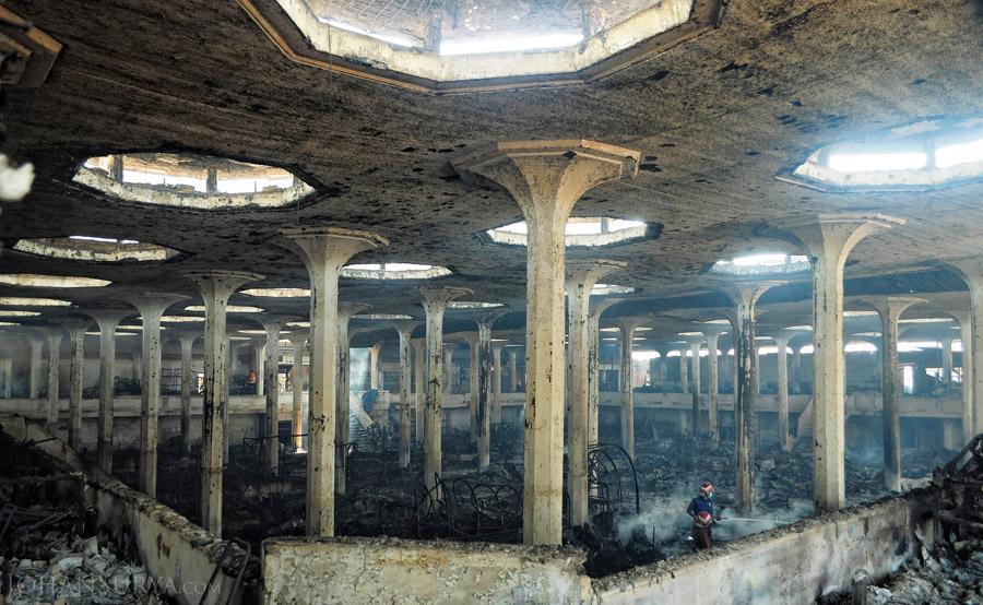 Interior Pasar Johar pasca Kebakaran