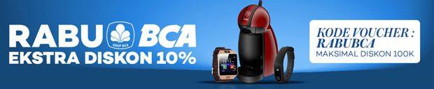 Extra Diskon 10% Rabu BCA - Lazada
