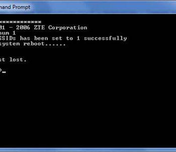 System Reboot Modem ZTE