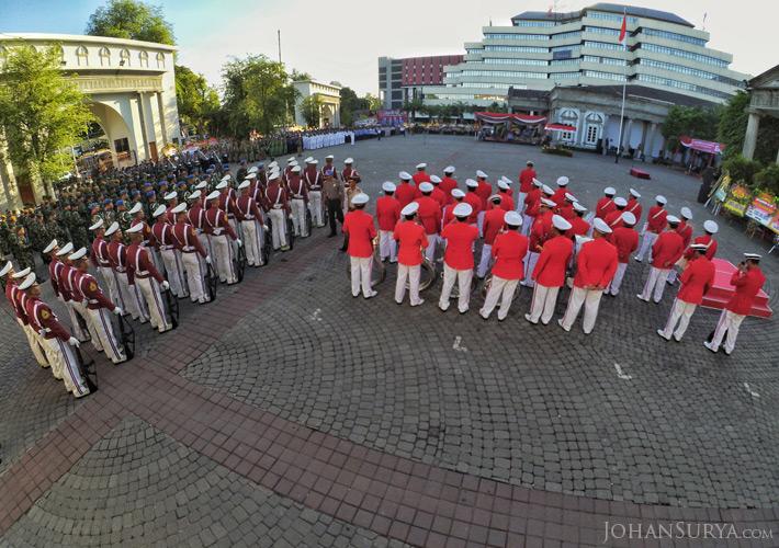 Upacara Peringatan HUT ke 469 Kota Semarang - AKPOL - Korps Musik
